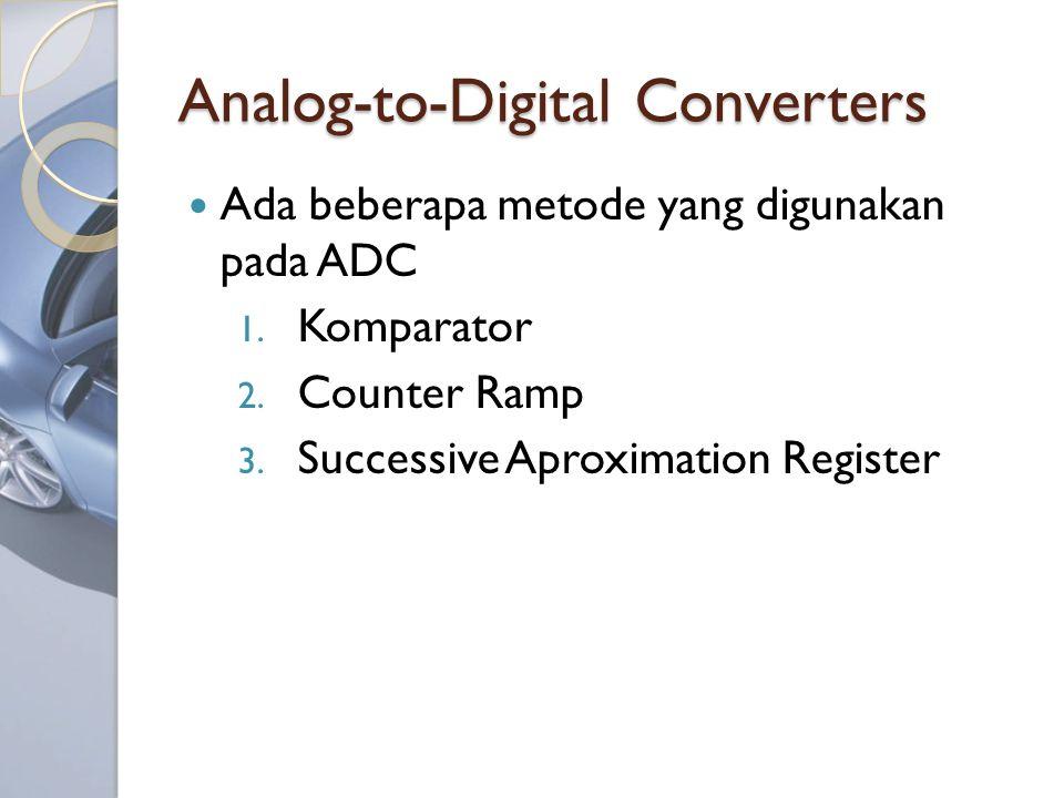 Analog-to-Digital Converters Ada beberapa metode yang digunakan pada ADC 1.