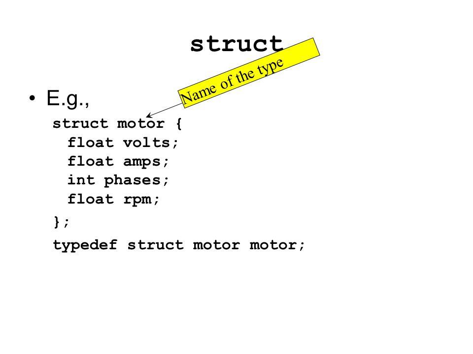 Example struct item { char *s; struct item *next; } Sebuah item dapat berisi alamat item lain… … yang dapat menunjuk item lain … yang juga dapat menunjuk item yang lain lagi … etc.