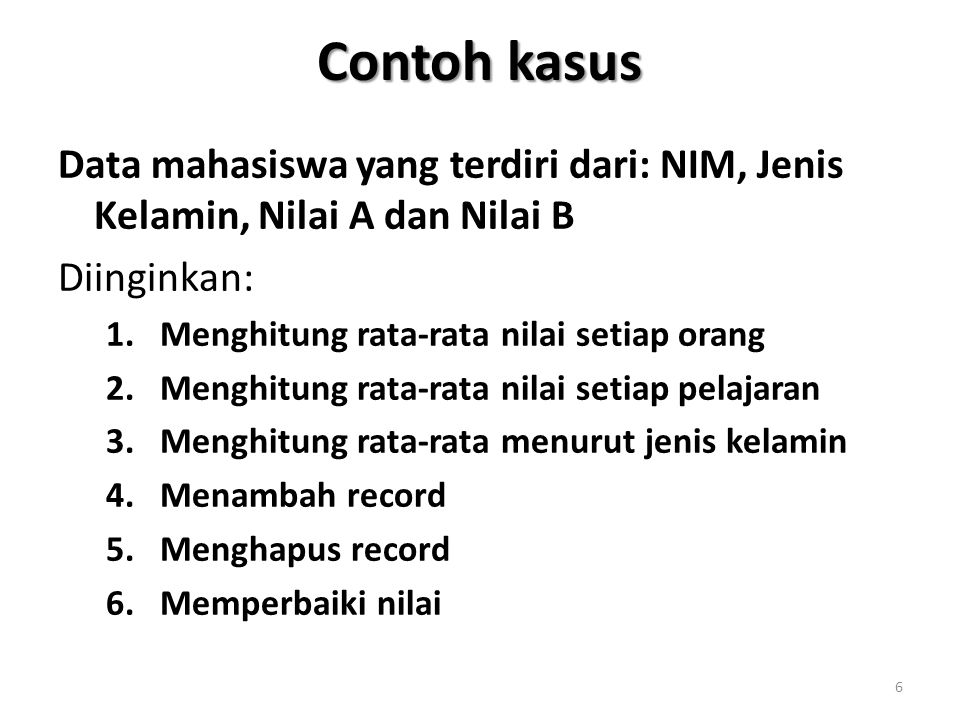 Program entri data PROCEDURE EntriData CLEAR mJmlRec = 0 input Isikan banyaknya record yang akan dientri: to mJmlRec IF mJmlRec > 0 then USE NilaiMHS EXCLUSIVE FOR Cntr = 1 TO mJmlRec CLEAR GOTO bottom mLastRec = RECNO()+1 ? Entri record nomor: + STR(mLastRec) 17