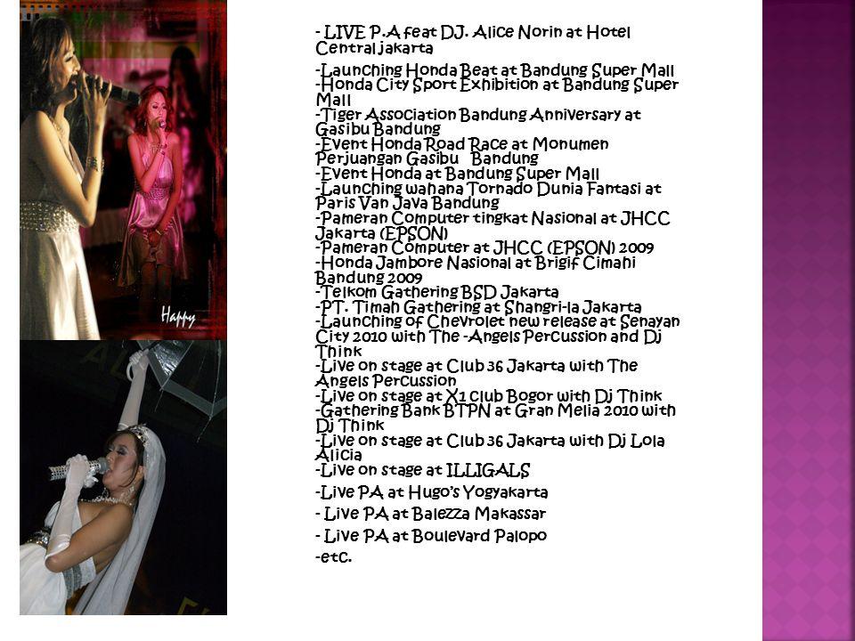 - LIVE P.A feat DJ.