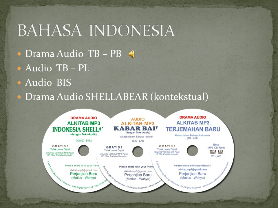 Drama Audio TB – PB Audio TB – PL Audio BIS Drama Audio SHELLABEAR (kontekstual)