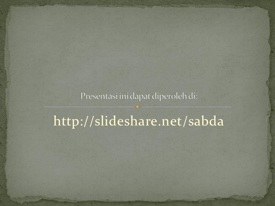 http://slideshare.net/sabda
