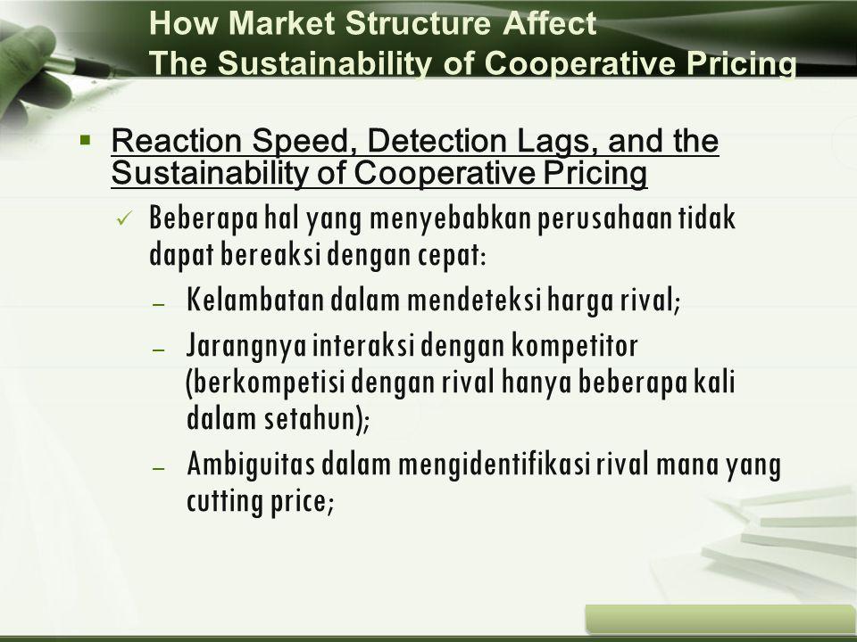 Copyright © Wondershare Software  Reaction Speed, Detection Lags, and the Sustainability of Cooperative Pricing Beberapa hal yang menyebabkan perusah