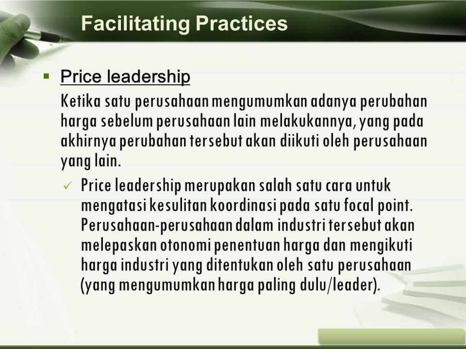 Copyright © Wondershare Software  Price leadership Ketika satu perusahaan mengumumkan adanya perubahan harga sebelum perusahaan lain melakukannya, ya