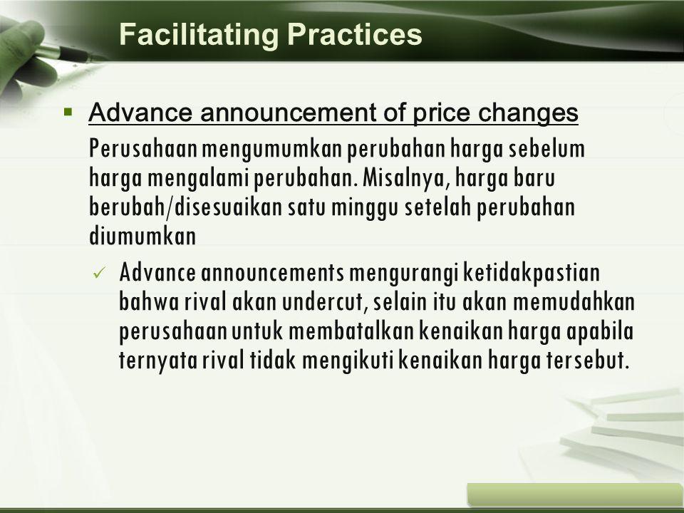Copyright © Wondershare Software  Advance announcement of price changes Perusahaan mengumumkan perubahan harga sebelum harga mengalami perubahan. Mis