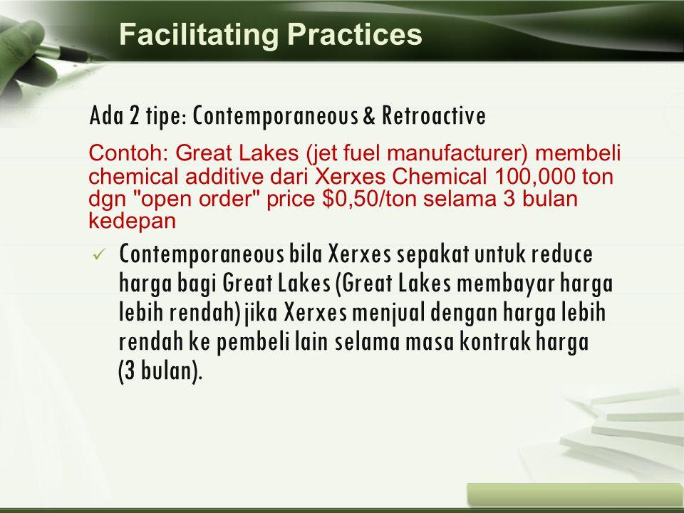 Copyright © Wondershare Software Ada 2 tipe: Contemporaneous & Retroactive Contoh: Great Lakes (jet fuel manufacturer) membeli chemical additive dari