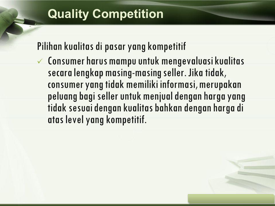 Copyright © Wondershare Software Pilihan kualitas di pasar yang kompetitif Consumer harus mampu untuk mengevaluasi kualitas secara lengkap masing-masi