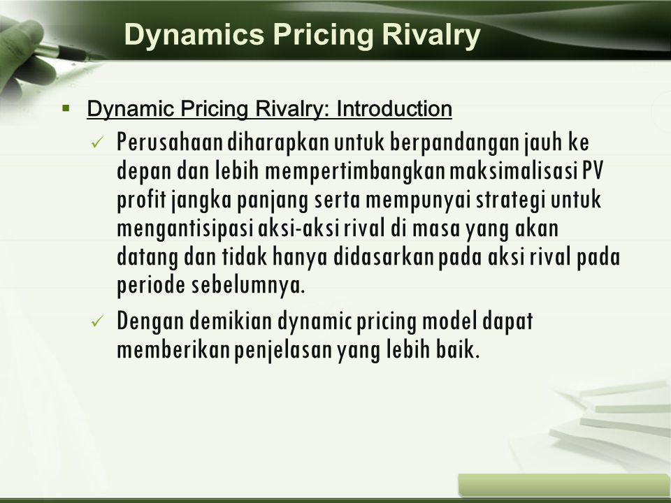 Copyright © Wondershare Software  Dynamic Pricing Rivalry: Introduction Perusahaan diharapkan untuk berpandangan jauh ke depan dan lebih mempertimban