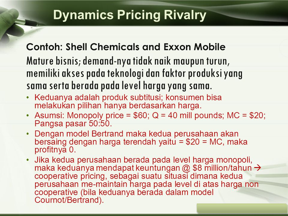 Copyright © Wondershare Software Contoh: Shell Chemicals and Exxon Mobile Mature bisnis; demand-nya tidak naik maupun turun, memiliki akses pada tekno