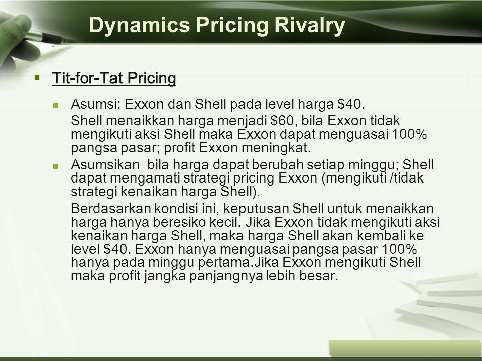 Copyright © Wondershare Software  Tit-for-Tat Pricing Asumsi: Exxon dan Shell pada level harga $40. Shell menaikkan harga menjadi $60, bila Exxon tid