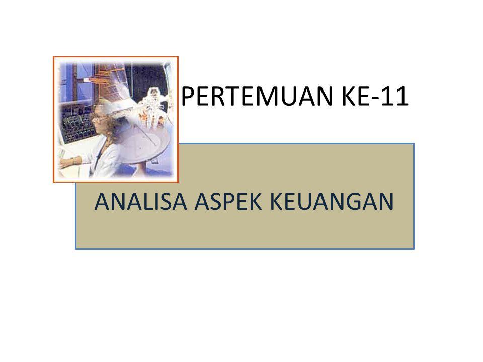 PERTEMUAN KE-11 ANALISA ASPEK KEUANGAN