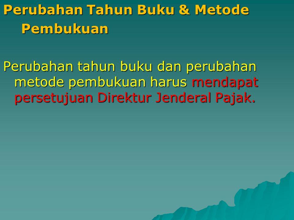 Tempat Penyimpanan Buku/Catatan/ Dokumen Buku-buku, catatan-catatan, dokumen dokumen yang menjadi dasar pembukuan atau pencatatan dan dokumen lain WAJIB disimpan di Indonesia, yaitu untuk : a.