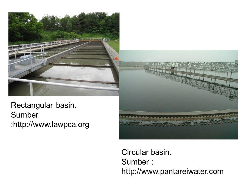 Rectangular basin. Sumber :http://www.lawpca.org Circular basin. Sumber : http://www.pantareiwater.com