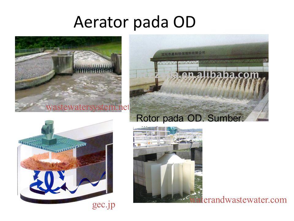 Aerator pada OD wastewatersystem.net Rotor pada OD. Sumber: alibaba.com gec.jp waterandwastewater.com
