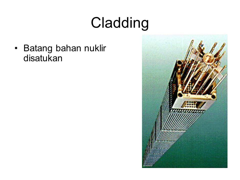 Cladding Batang bahan nuklir disatukan