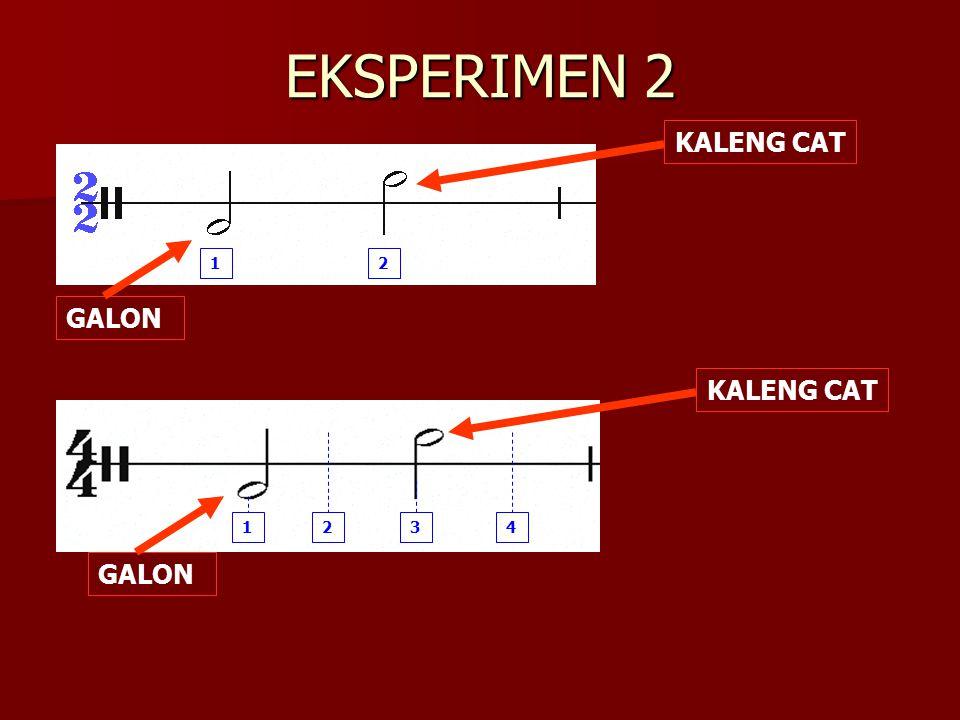 EKSPERIMEN 2 12 GALON KALENG CAT 1234 GALON KALENG CAT