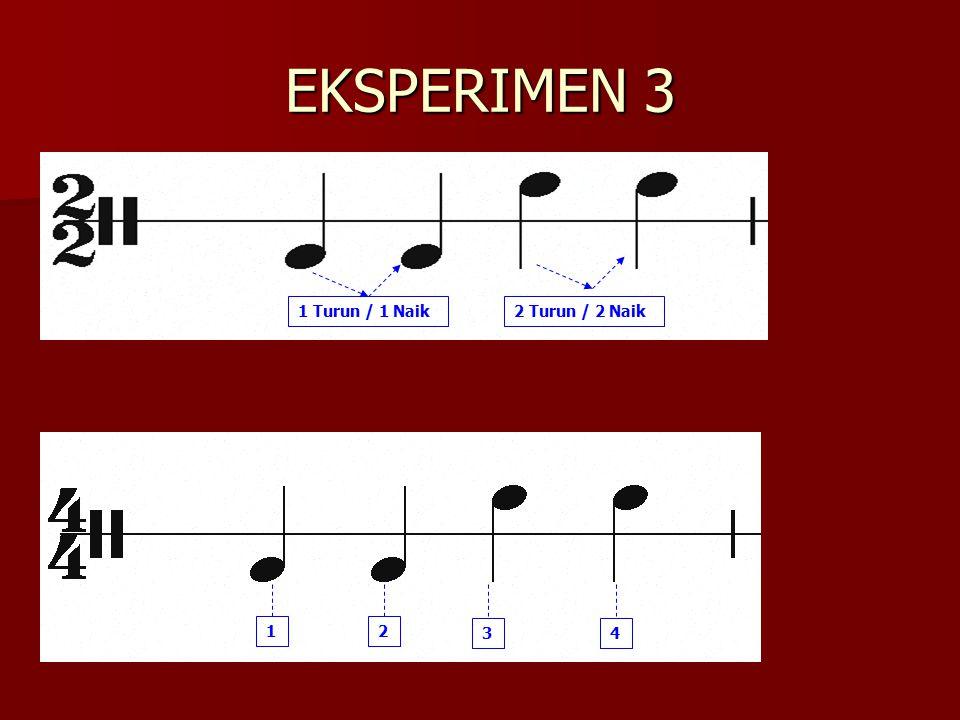 EKSPERIMEN 3 1 Turun / 1 Naik2 Turun / 2 Naik 2 34 1