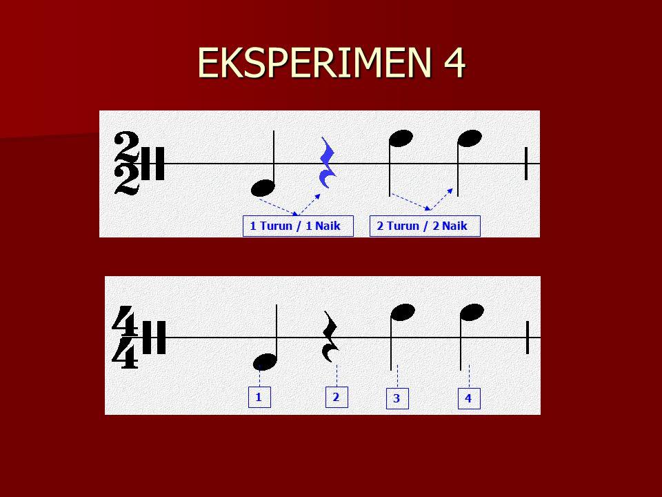 EKSPERIMEN 4 1 Turun / 1 Naik2 Turun / 2 Naik 2 34 1