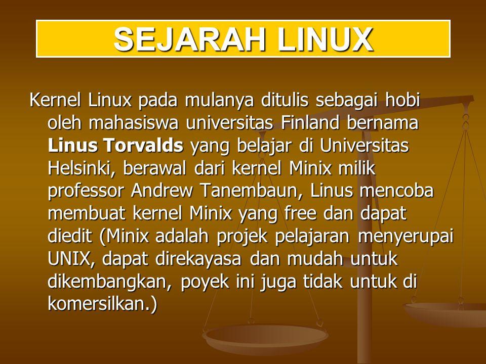 Sejarah sistem operasi berbasiskan Linux berkaitan erat dengan projek GNU, proyek Free Software terkenal yang diketuai oleh Richard Stallman.