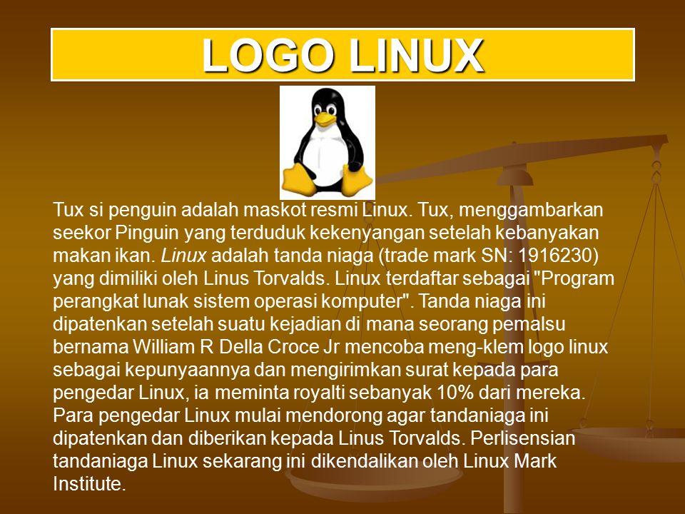 SISTEM OPERASI LINUX Linux atau GNU/Linux adalah sistem operasi non-commercial yang sangat populer.