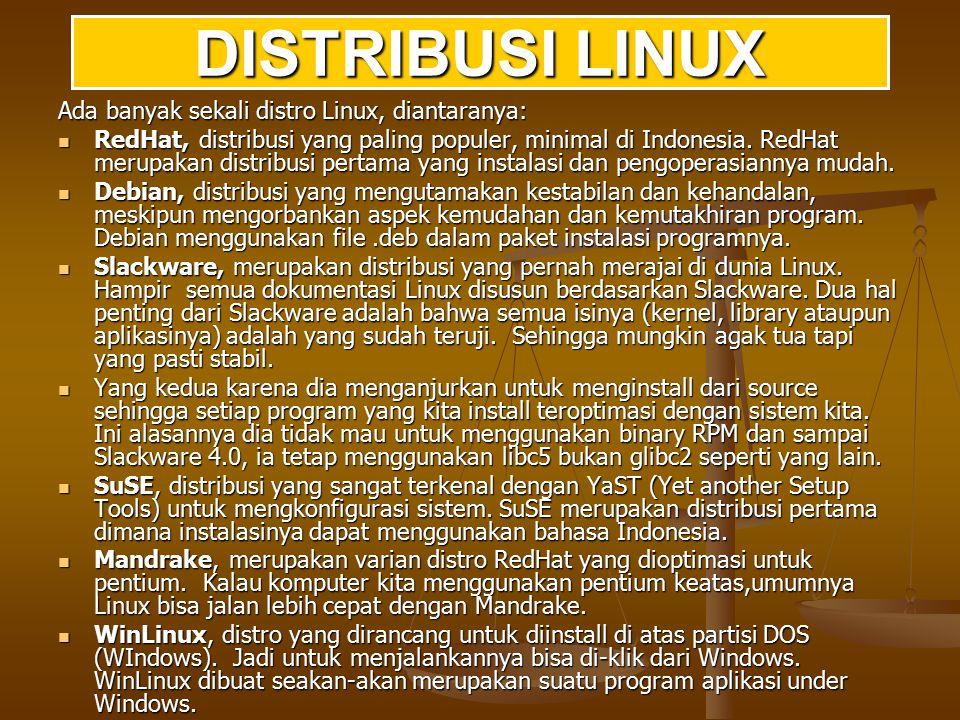 Pemanfaatan Linux juga sudah diterapkan pada supercomputer.