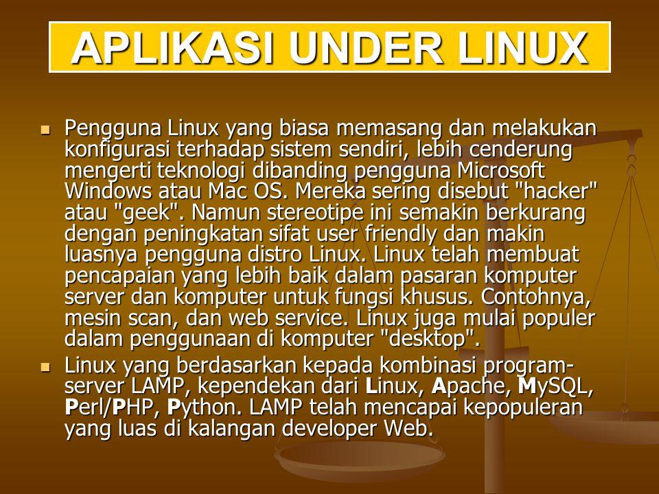 Perpustakaan sistem (termasuk sekumpulan layanan yang dimiliki kernel) menyediakan banyak tipe fungsi.