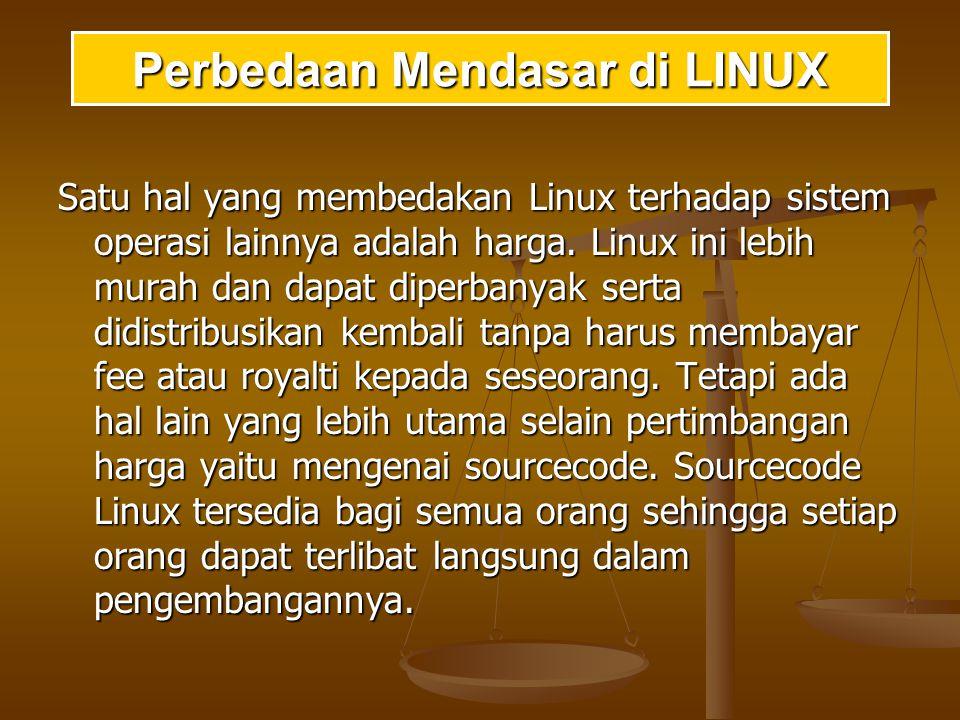 Sistem linux mengandung banyak program- program user-mode: utilitas sistem dan utilitas sistem dan utilitas user.