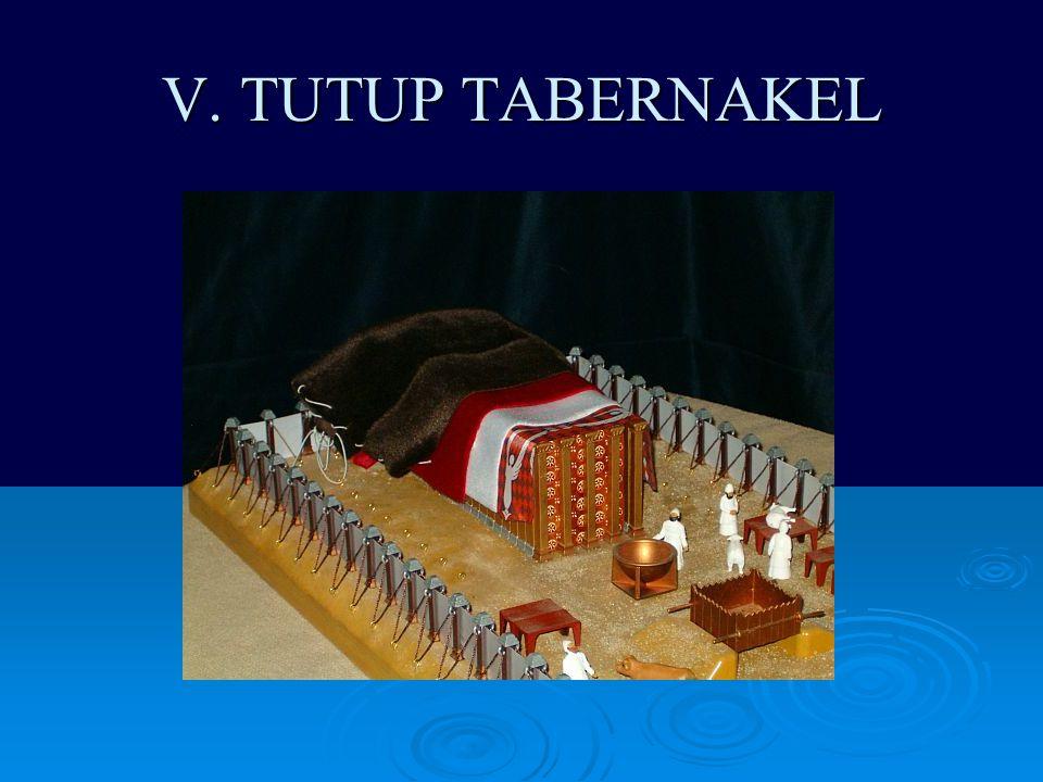 V. TUTUP TABERNAKEL