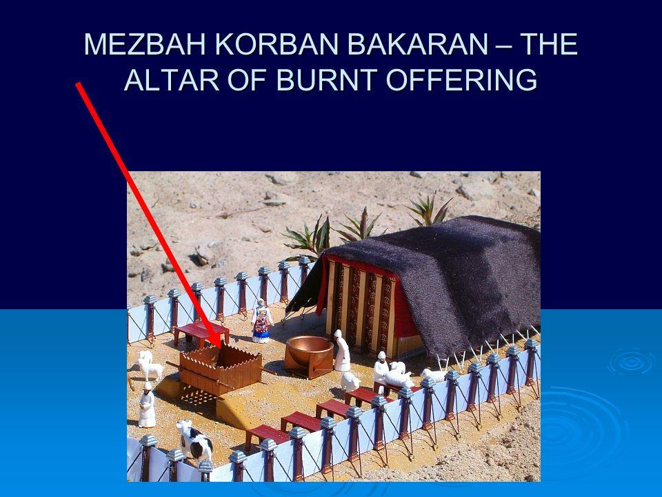 MEZBAH KORBAN BAKARAN – THE ALTAR OF BURNT OFFERING