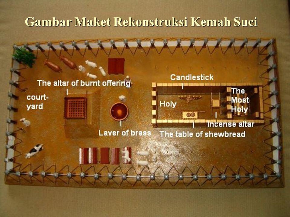 Gambar Maket Rekonstruksi Kemah Suci
