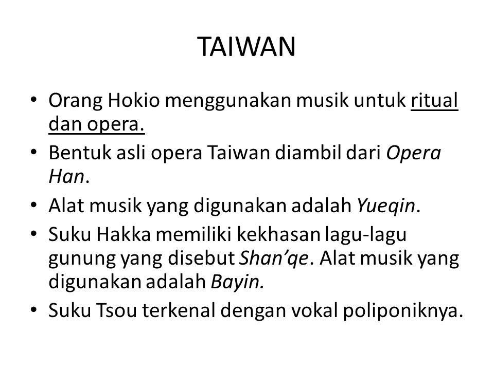 INSTRUMEN MUSIK TAIWAN Yueqin Orang Hokio menggunakan musik untuk acara ritual dan opera.