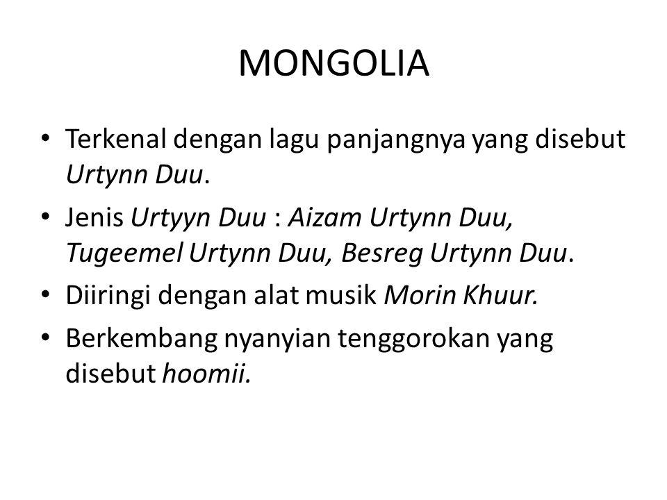 INSTRUMEN MUSIK MONGOLIA Morin Khuur