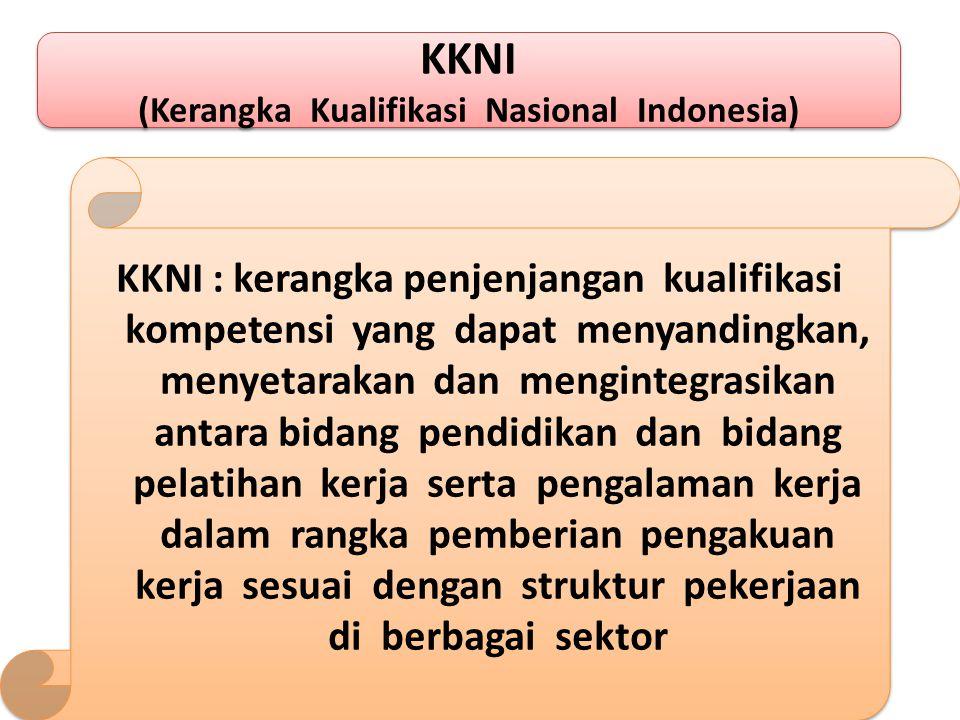 SKKNI (Standar Kompetensi Kerja Nasional Indonesia) SKKNI (Standar Kompetensi Kerja Nasional Indonesia) SKKNI : rumusan kemampuan kerja yang mencakup