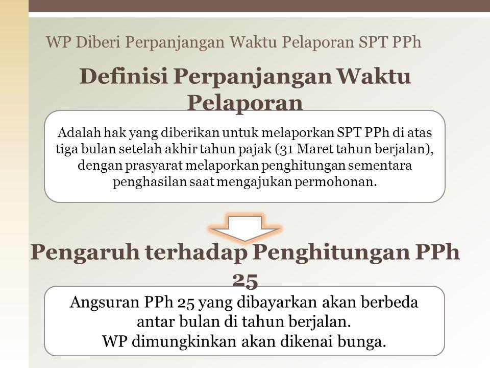 WP Diberi Perpanjangan Waktu Pelaporan SPT PPh 28 Adalah hak yang diberikan untuk melaporkan SPT PPh di atas tiga bulan setelah akhir tahun pajak (31