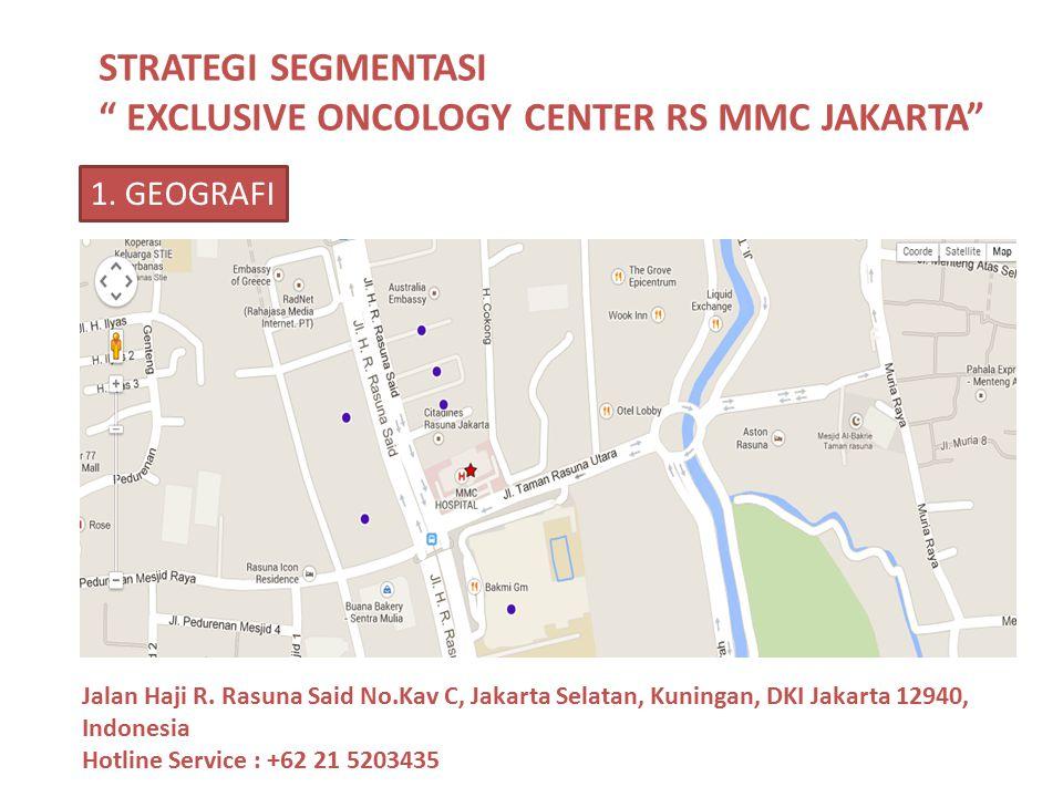 "STRATEGI SEGMENTASI "" EXCLUSIVE ONCOLOGY CENTER RS MMC JAKARTA"" Jalan Haji R. Rasuna Said No.Kav C, Jakarta Selatan, Kuningan, DKI Jakarta 12940, Indo"