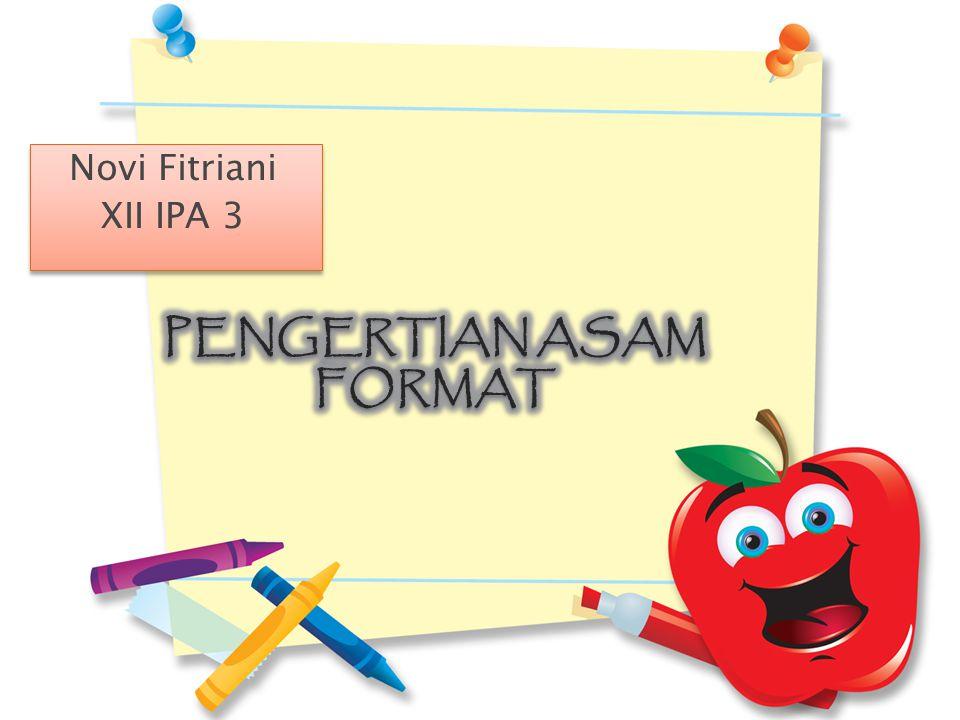 Novi Fitriani XII IPA 3 Novi Fitriani XII IPA 3