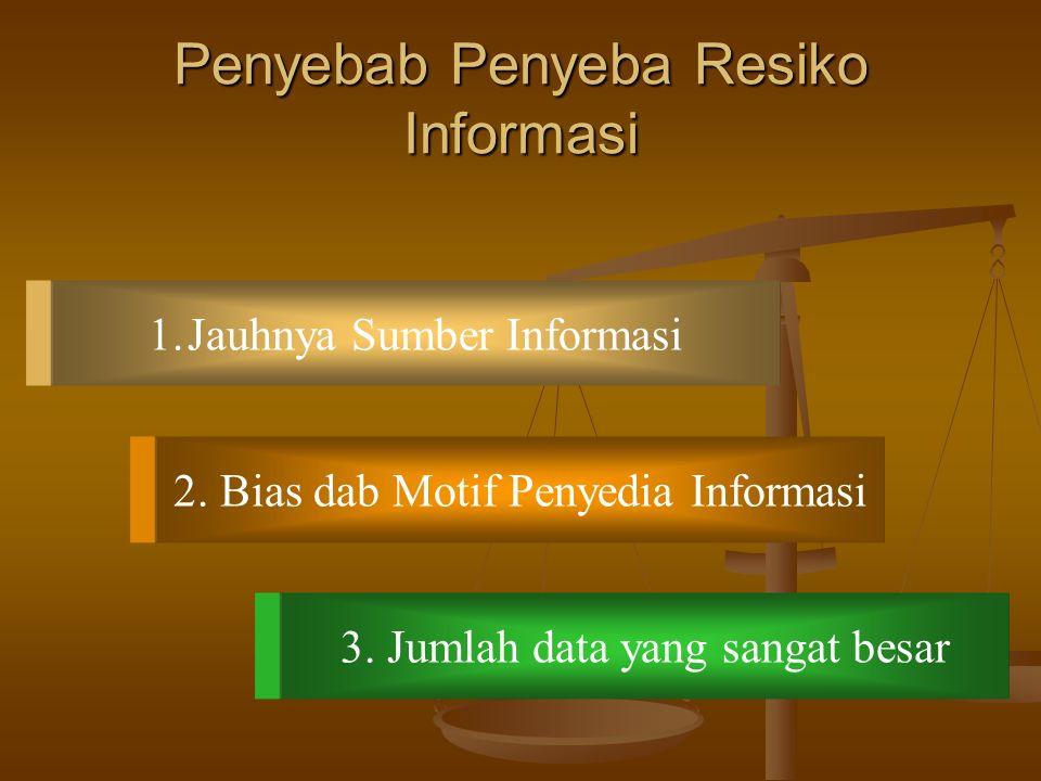 Kebuthan Ekonomis Akan Auditing Informasi mencerminkan kemungkinan Resiko informasi dimana Resiko keputusan bisnis telah dibuat tidak akurat. Auditng