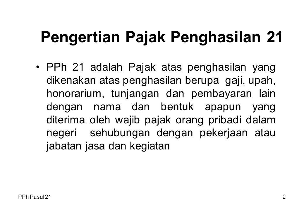 PPh Pasal 211 Pajak Penghasilan Pasal 21