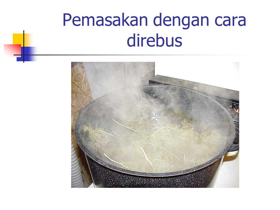 Pemasakan menggunakan steam cooker