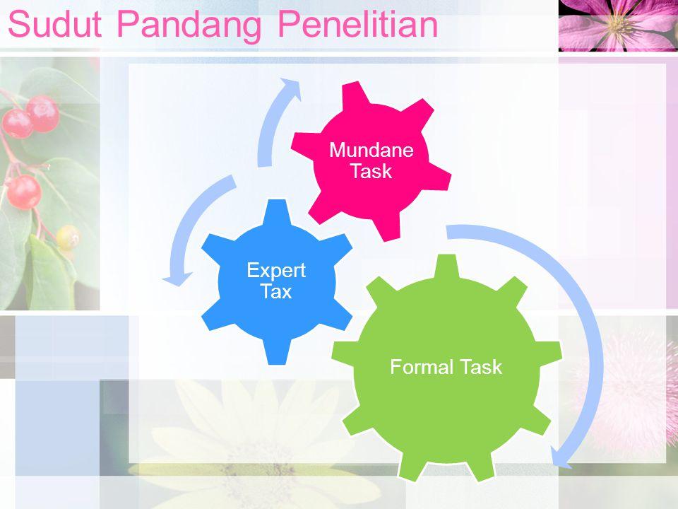 Sudut Pandang Penelitian Formal Task Expert Tax Mundane Task