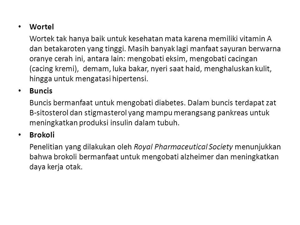 Wortel Wortek tak hanya baik untuk kesehatan mata karena memiliki vitamin A dan betakaroten yang tinggi.