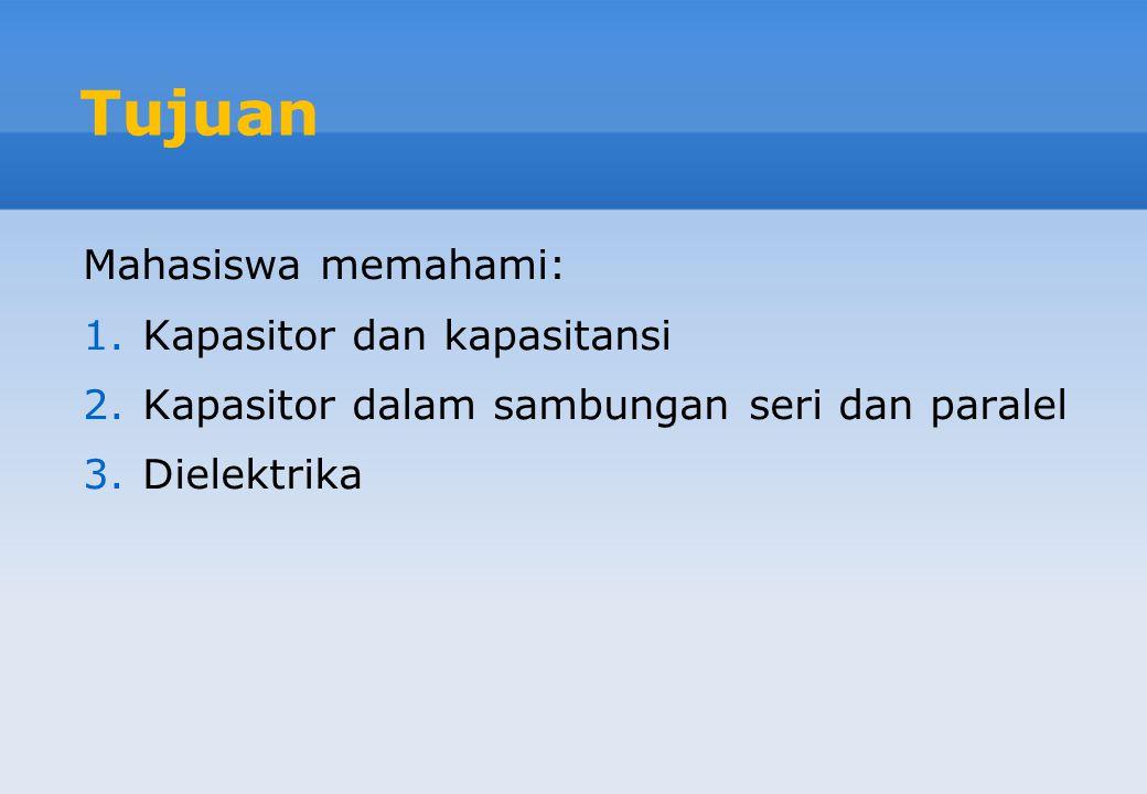 Bab 4 Kapasitansi dan Dielektrika Jurusan Teknik Elektro Fakultas Sains dan Teknologi UIN Suska Riau Abdillah, S.Si, MIT TEL 2203
