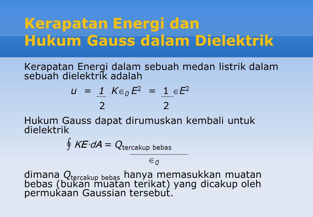 Kerusakan dan Kekuatan Dielektrik Di bawah medan yang cukup kuat, dielektrik menjadi konduktor. Peristiwa ini disebut kerusakan dielektrik (dielectric