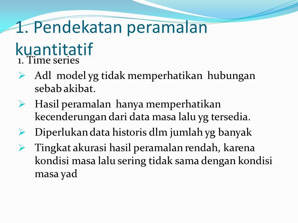 1.Pendekatan peramalan kuantitatif 1.
