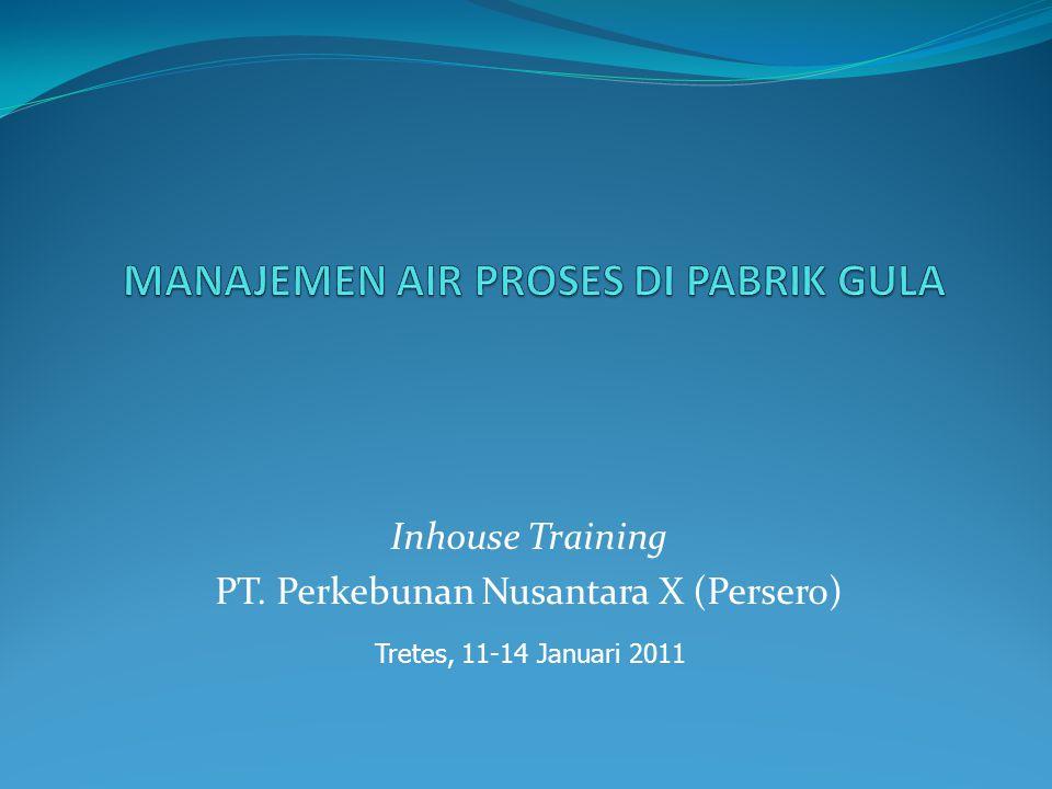 Inhouse Training PT. Perkebunan Nusantara X (Persero) Tretes, 11-14 Januari 2011