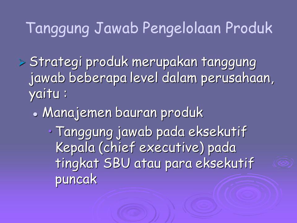 Product Grid Analysis ( Analisis Kisi-kisi produk)  Product Grid Analysis Mempertimbangkan apakah setiap produk memenuhi kriteria kinerja minimum manajemen dan mengukur kekuatan dan kelemahan produk dibanding produk-produk lain dalam portofolio.