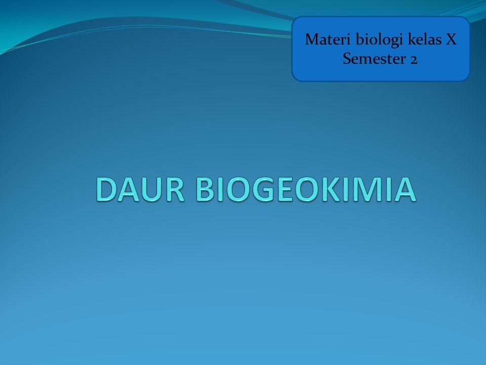 Materi biologi kelas X Semester 2