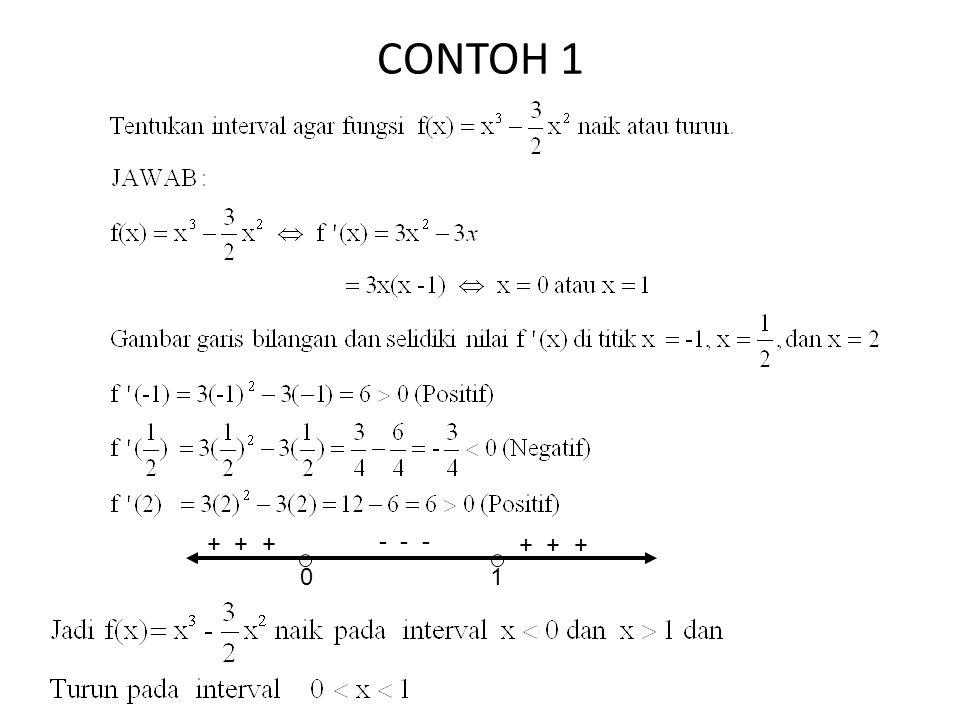 CONTOH 1 01 + + + - - -
