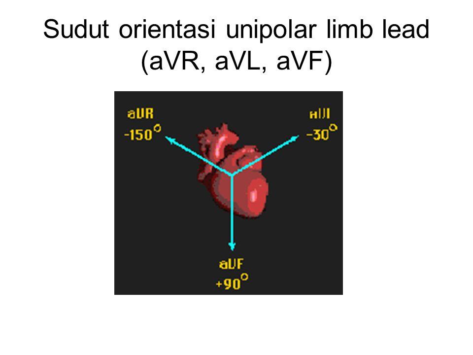 Sudut orientasi unipolar limb lead (aVR, aVL, aVF)