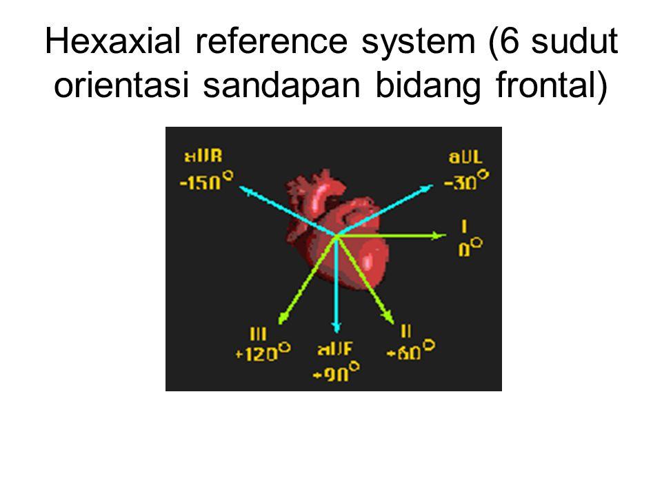 Hexaxial reference system (6 sudut orientasi sandapan bidang frontal)